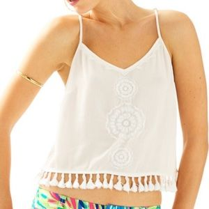 Lilly Pulitzer Katen Embroidered Crop Top XXS